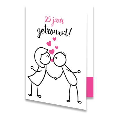 Top Gefeliciteerd 25 jaar getrouwd, stuur een felicitatiekaart! #QZ16