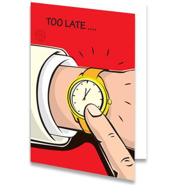 Populair Verjaardagskaart te laat - stuur nu een toepasselijke kaart! #TW87