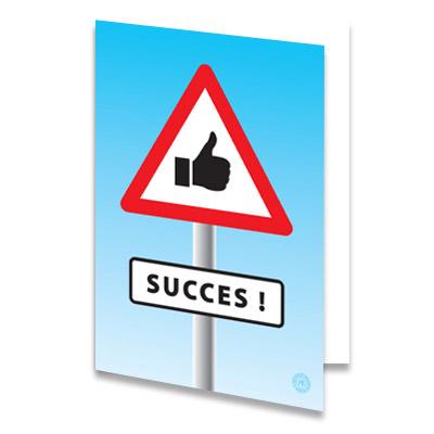 Succes Wensen Examens Met Een Echte Kaart