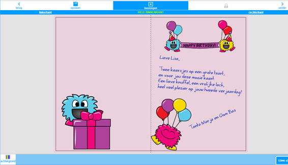 Verjaardagskaart 2 Jaar Online Maken En Per Post Sturen