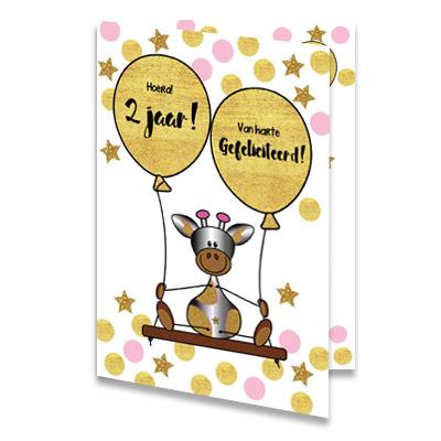 Verjaardagskaart 2 jaar online maken en per post sturen for Poppenhuis kind 2 jaar