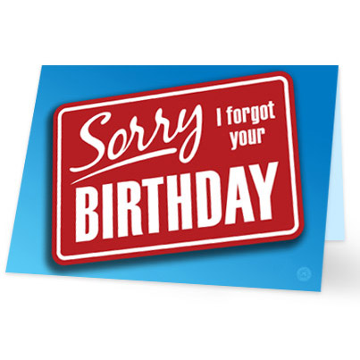 Bekend Verjaardagskaart te laat - stuur nu een toepasselijke kaart! &YJ58