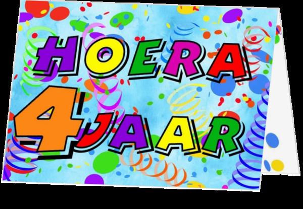 Beste Verjaardagskaart 4 jaar jb17070704v   Kaartjeposten.nl ZR-18