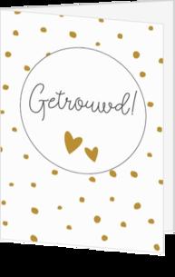 Populair Huwelijk felicitatie kaart | Bruidspaar kaartje | Kaartjeposten.nl @PA37