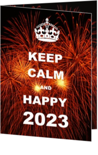 Nieuwjaarskaarten versturen - Kerstkaart Keep Calm and Happy 2020
