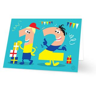 Super Verjaardagskaart kind 12 jaar, jongen - Kaartjeposten.nl #DX55