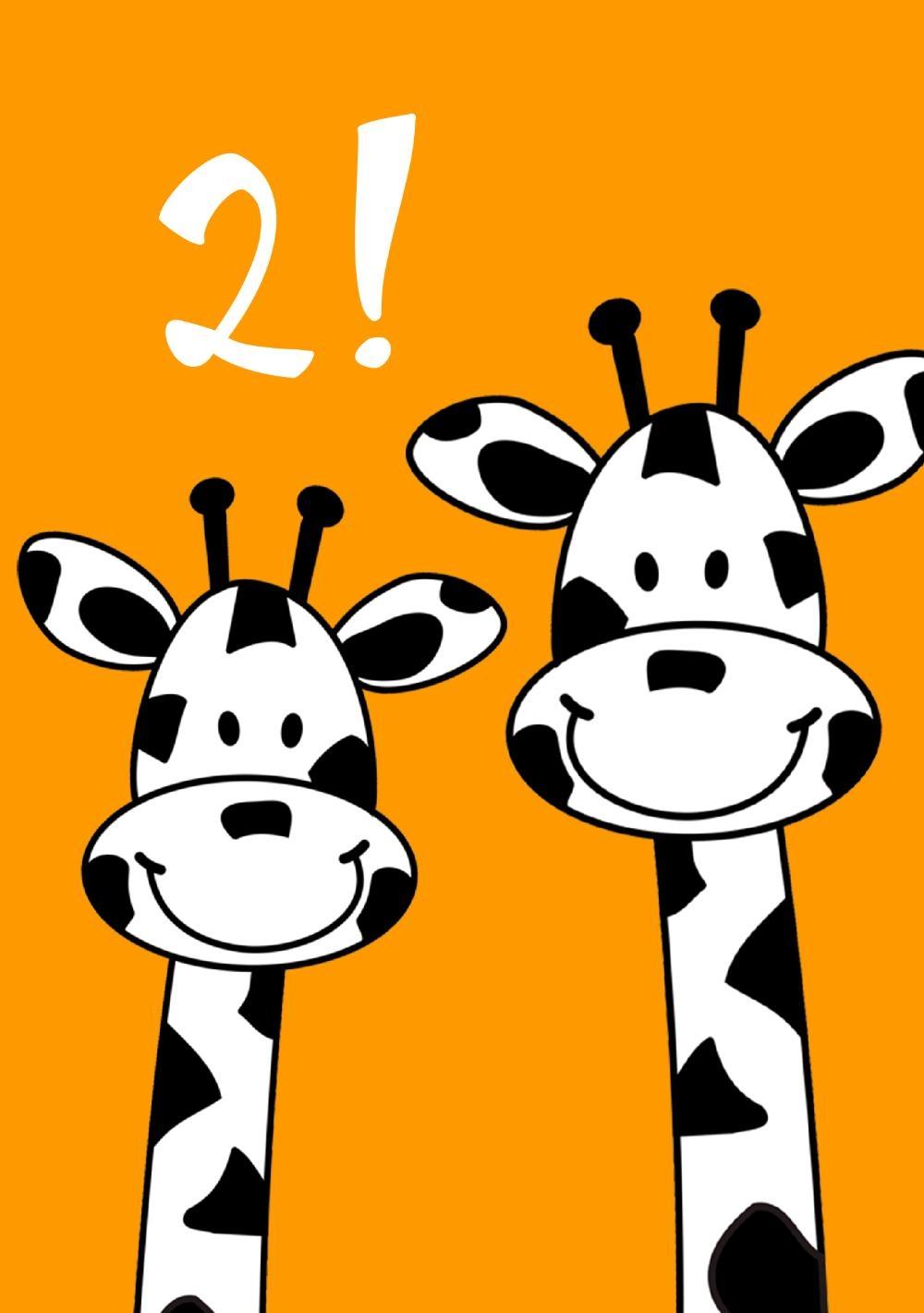 verjaardagskaart kind 2 jaar Verjaardagskaart kind 2 jaar giraf   Kaartjeposten.nl verjaardagskaart kind 2 jaar