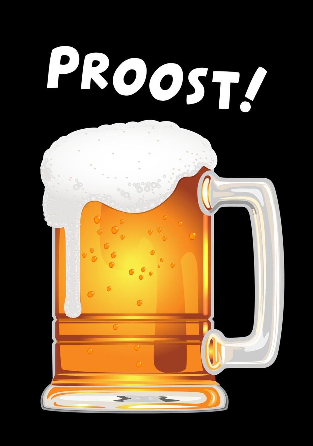 Verjaardagskaart Bier Grote Pul Proost Kaartjeposten Nl