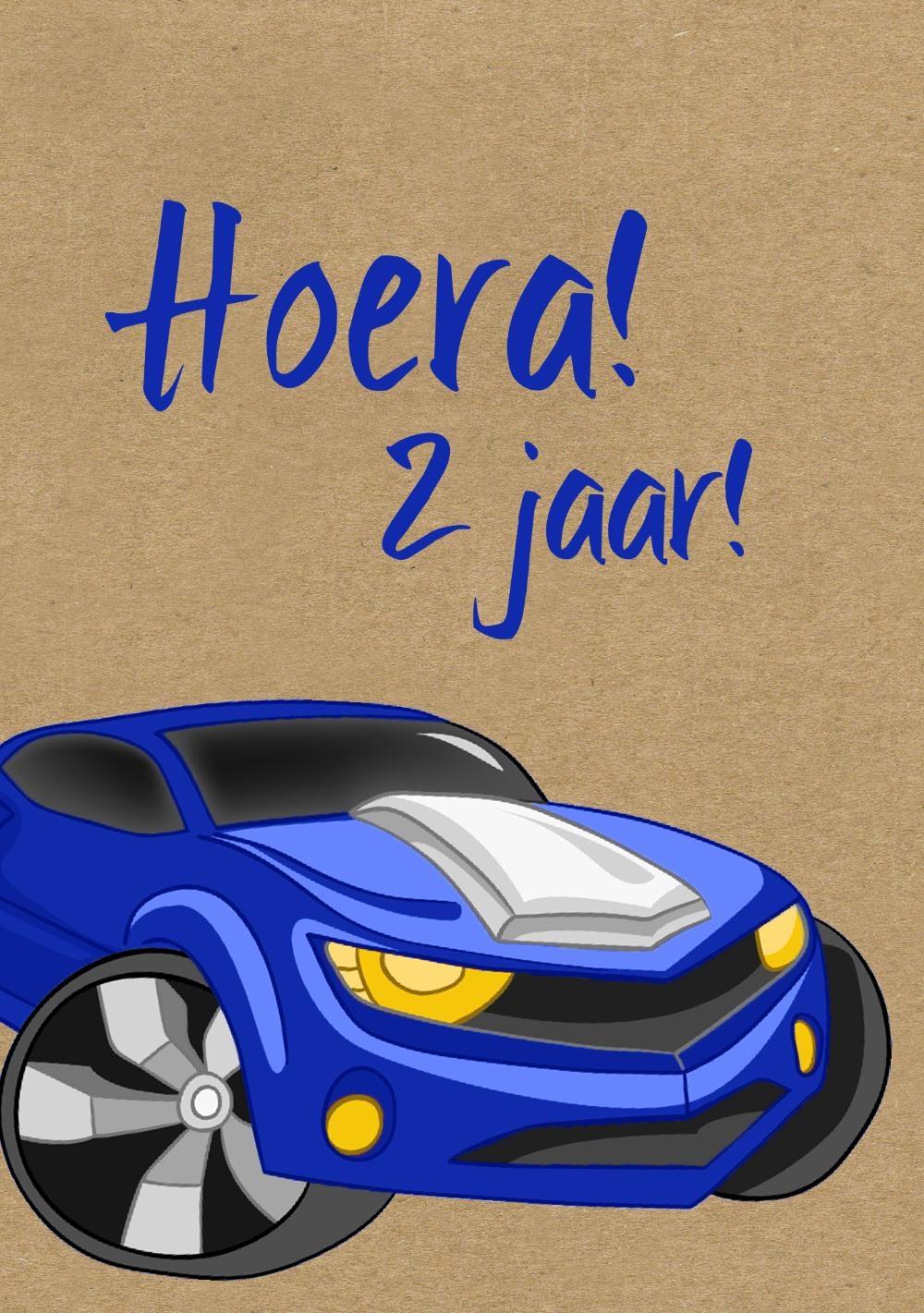 Verjaardagskaart kind 2 jaar cars for Poppenhuis kind 2 jaar