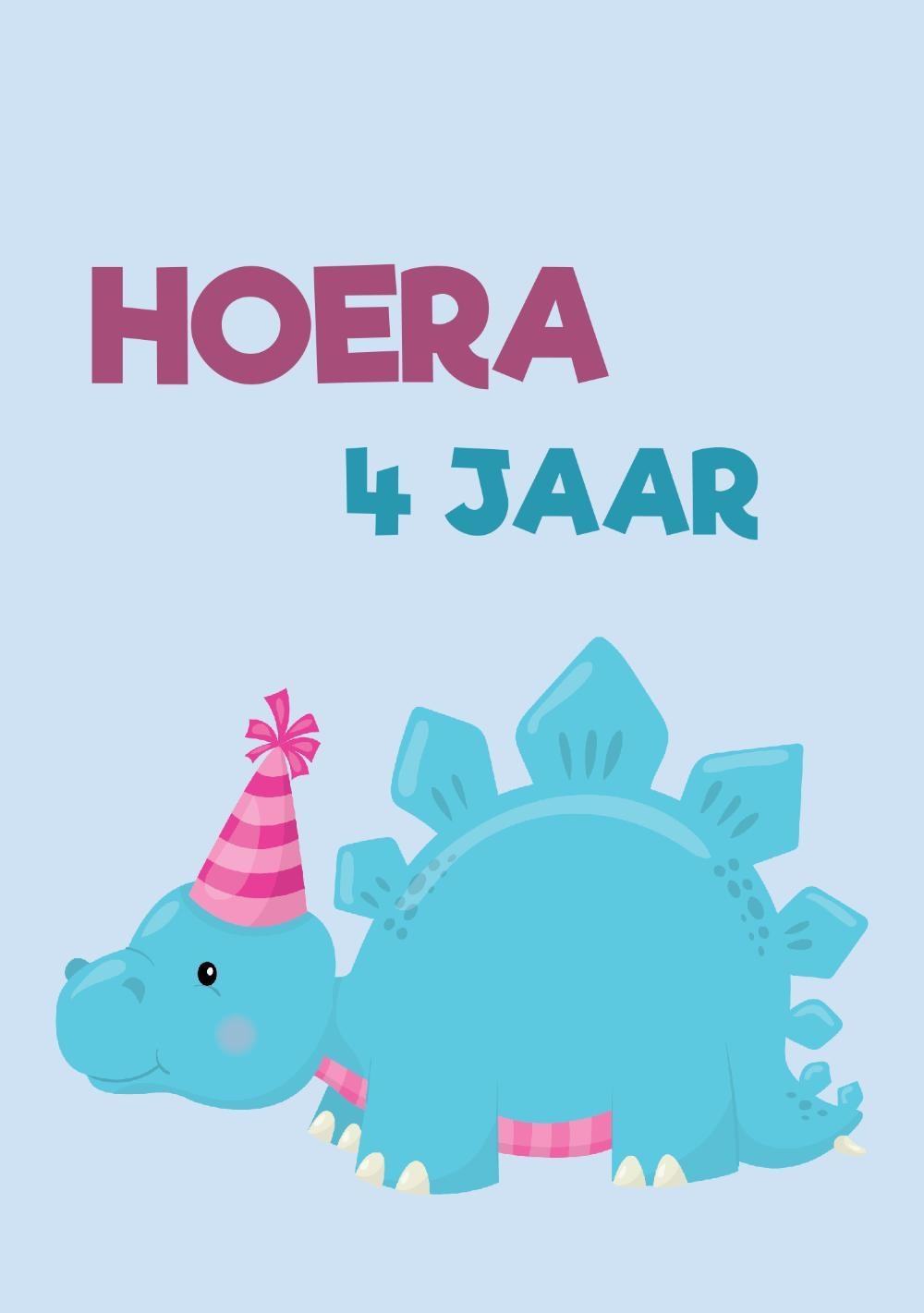 verjaardag kind 4 jaar Verjaardagskaart dinosaurus kind 4 jaar   jongen verjaardag kind 4 jaar