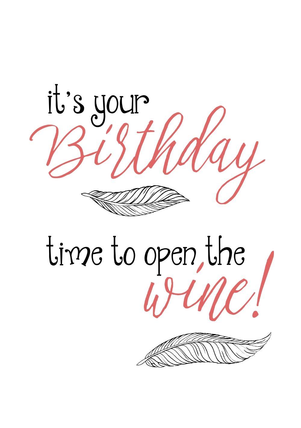 verjaardag vrouw met wijn