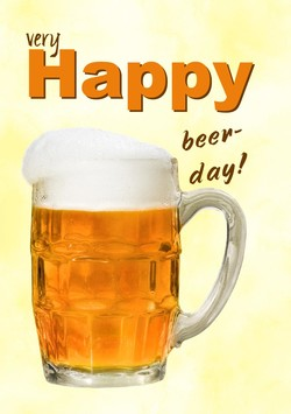 Verjaardagskaart Man Grappig Happy Beerday