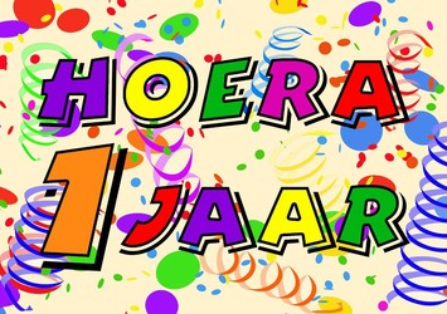 verjaardag kind 1 jaar Verjaardagskaart kind: Hoera 1 jaar!   Kaartjeposten.nl verjaardag kind 1 jaar