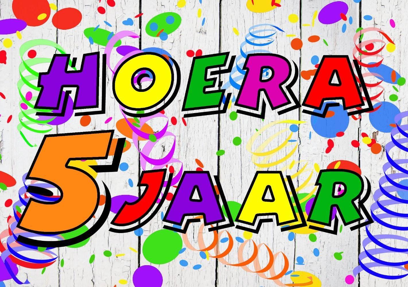 Verjaardagskaart Kind Hoera 5 Jaar Kaartjeposten Nl