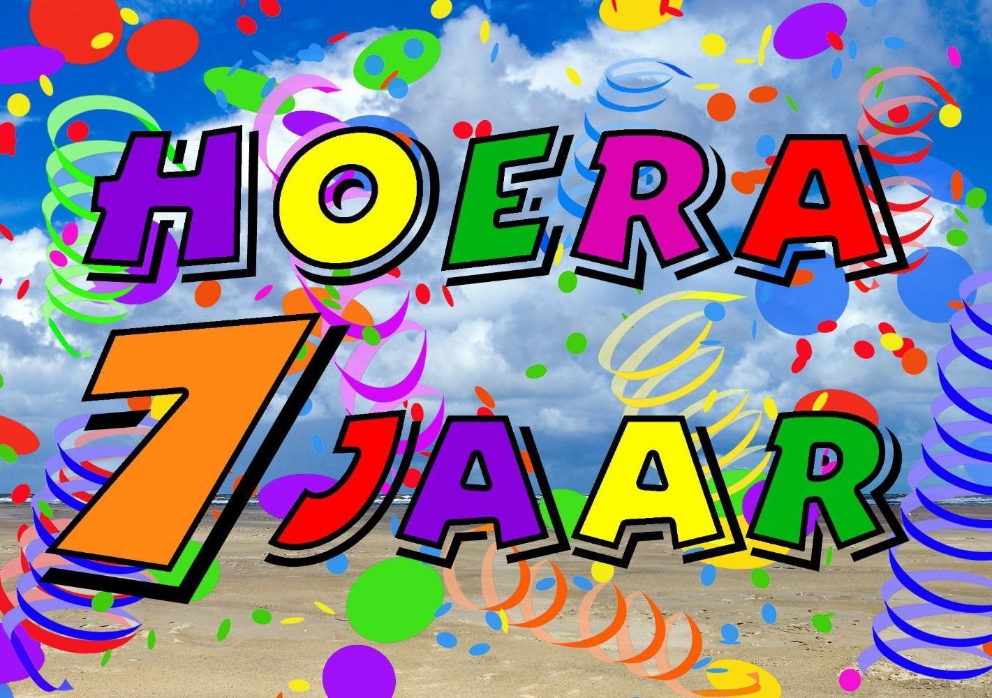 7 jaar kind Verjaardagskaart kind: Hoera 7 jaar!   Kaartjeposten.nl 7 jaar kind