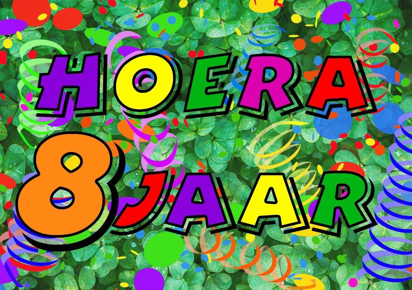 hoera 8 jaar Verjaardagskaart kind: Hoera 8 jaar!   Kaartjeposten.nl hoera 8 jaar
