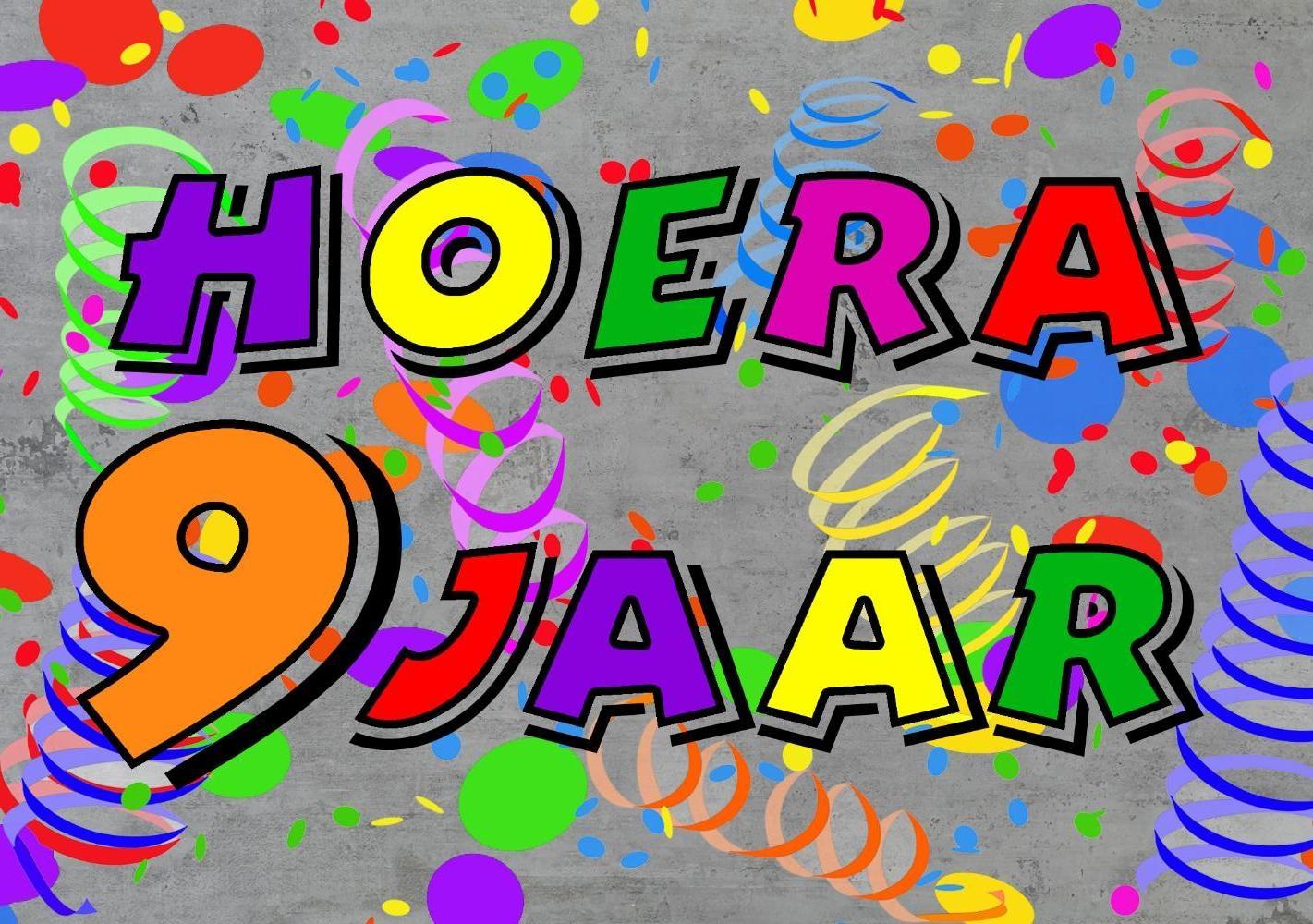hoera 9 jaar Verjaardagskaart kind: Hoera 9 jaar!   Kaartjeposten.nl hoera 9 jaar